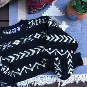 Vintage GAP 90s Wool Chunky Sweater